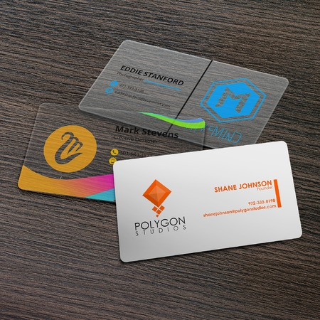Print plastic business cards clear white frosted uprinting colourmoves
